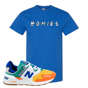 997S Multicolor Sneaker Royal T Shirt | Tees to match New Balance 997S Multicolor Shoes | Homies