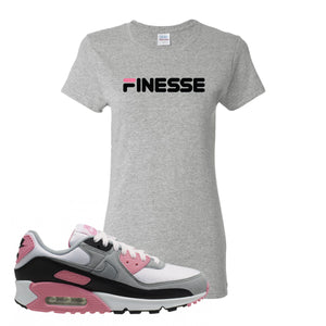 WMNS Air Max 90 Rose Pink Finesse Ash Women's T-Shirt To Match Sneakers