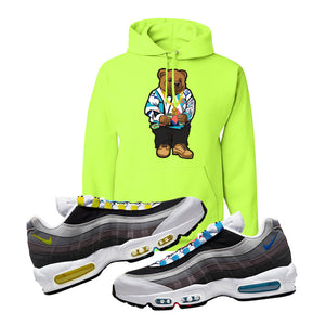 Air Max 95 QS Greedy Hoodie | Safety Green, Sweater Bear