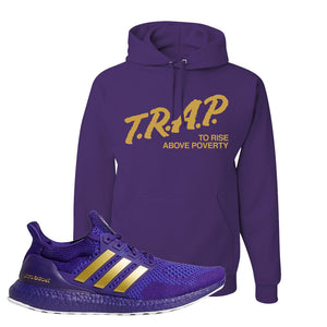 Ultra Boost 1.0 Washington Hoodie | Trap To Rise Above Poverty, Deep Purple