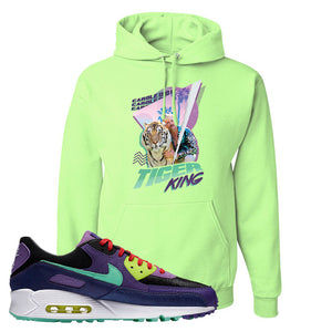 Air Max 90 Cheetah Hoodie | Retro Tiger King, Neon Green
