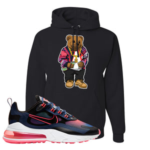Air Max 270 React WMNS Storm Pink Pullover Hoodie | Sweater Bear, Black