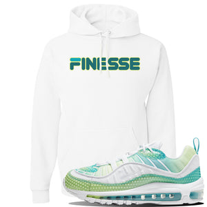 WMNS Air Max 98 Bubble Pack Sneaker White Pullover Hoodie | Hoodie to match Nike WMNS Air Max 98 Bubble Pack Shoes | Finesse