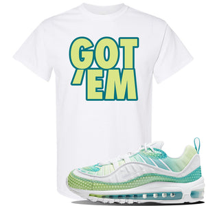 WMNS Air Max 98 Bubble Pack Sneaker White T Shirt | Tees to match Nike WMNS Air Max 98 Bubble Pack Shoes | Got Em