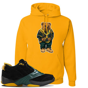 Answer 5 Bethel High Sneaker Charcoal Grey Pullover Hoodie | Hoodie to match Reebok Answer 5 Bethel High Shoes | Sweater Bear