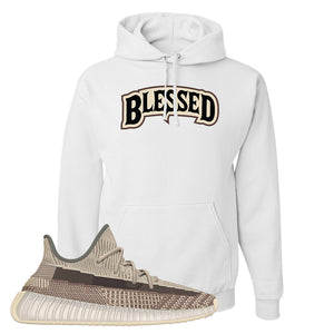 Yeezy 350 v2 Zyon Hoodie | White, Blessed Arch