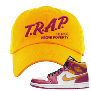 Air Jordan 1 Mid Familia Dad Hat | Trap To Rise Above Poverty, Gold
