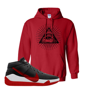 KD 13 Bred Hoodie | All Seeing Eye, Red