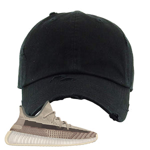Yeezy 350 v2 Zyon Distressed Dad Hat | Black, Blank