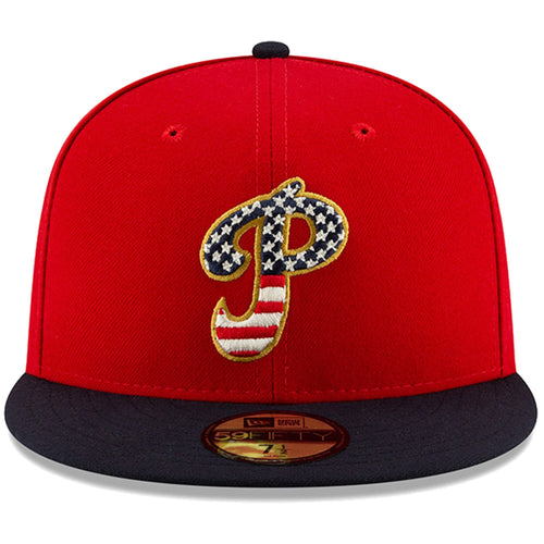 Philadelphia Phillies Stars and Stripes 2019 Fourth Of July On Field 59FIFTY Fitted Cap