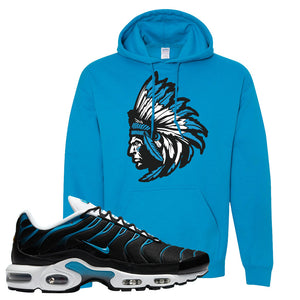 Air Max Plus Black and Laser Blue Hoodie | Indian Chief, Sapphire