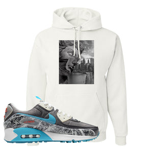Air Max 90 Rice Ball Hoodie | Miguel, White