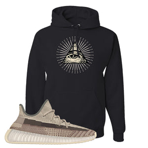 Yeezy 350 v2 Zyon Hoodie | Black, All Seeing Eye