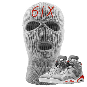 Jordan 6 Neutral Grey Ski Mask | Light Gray, 6IX