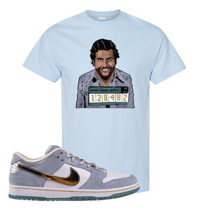 Sean Cliver x SB Dunk Low T Shirt | Escobar Illustration, Light Blue