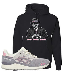 END x Asics Gel-Lyte III Grey And Pink Hoodie | Capone Illustration, Black
