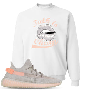 Yeezy Boost 350 True Form V2 Sneaker Hook Up Talk Is Cheap White Crewneck Sweater