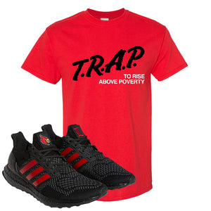Ultra Boost 1.0 Louisville T Shirt | Trap To Rise Above Poverty, Red