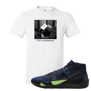 KD 13 Planet of Hoops T Shirt | To Serve Man, White