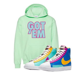 Blazer Mid Big Kids Hoodie | Mint Green, Got Em