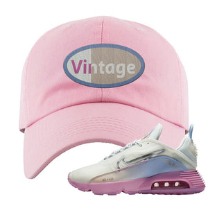 Air Max 2090 Airplane Travel Dad Hat | Vintage Oval, Light Pink