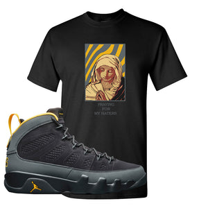 Air Jordan 9 Charcoal University Gold T Shirt | God Told Me, Black