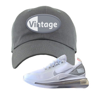 Air Max 720 Utility White Dad Hat | Dark Gray, Vintage Oval