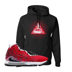 Lebron 17 Uptempo Hoodie | Black, All Seeing Eye