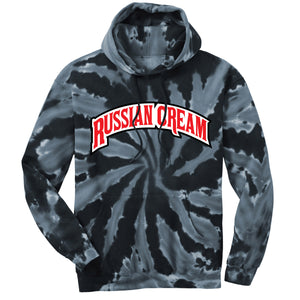 Backwoods Russian Cream Black Tie-Dye Pullover Hoodie