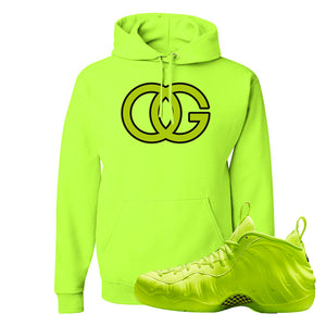 Air Foamposite Pro Volt Hoodie | OG, Safety Green