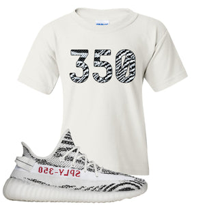 Yeezy Boost 350 V2 Zebra 350 White Sneaker Hook Up Kid's T-Shirt