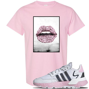 WMNS Nite Jogger Pink T Shirt | Light Pink, Rose Lips