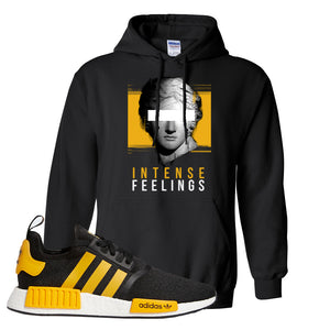 NMD R1 Active Gold Hoodie | Black, Intense Feelings