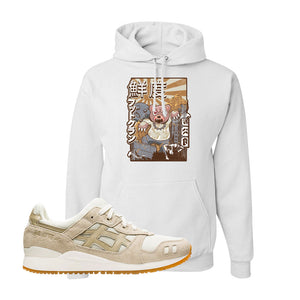 GEL-Lyte III 'Monozukuri Pack' Hoodie | White, Attack Of The Bear
