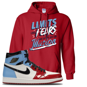 Air Jordan 1 Fearless Limits Red Made to Match Pullover Hoodie