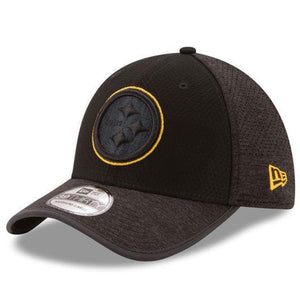 Pittsburgh Steelers 2017 Training Camp 39Thirty Black/Black Mesh Back Flexfit Cap