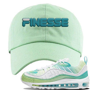 WMNS Air Max 98 Bubble Pack Sneaker Sage Green Dad Hat | Hat to match Nike WMNS Air Max 98 Bubble Pack Shoes | Finesse