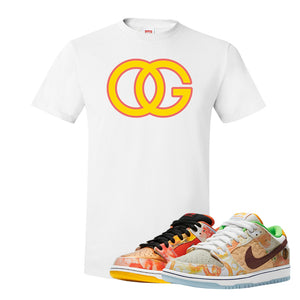 SB Dunk Low Street Hawker T Shirt | OG, White