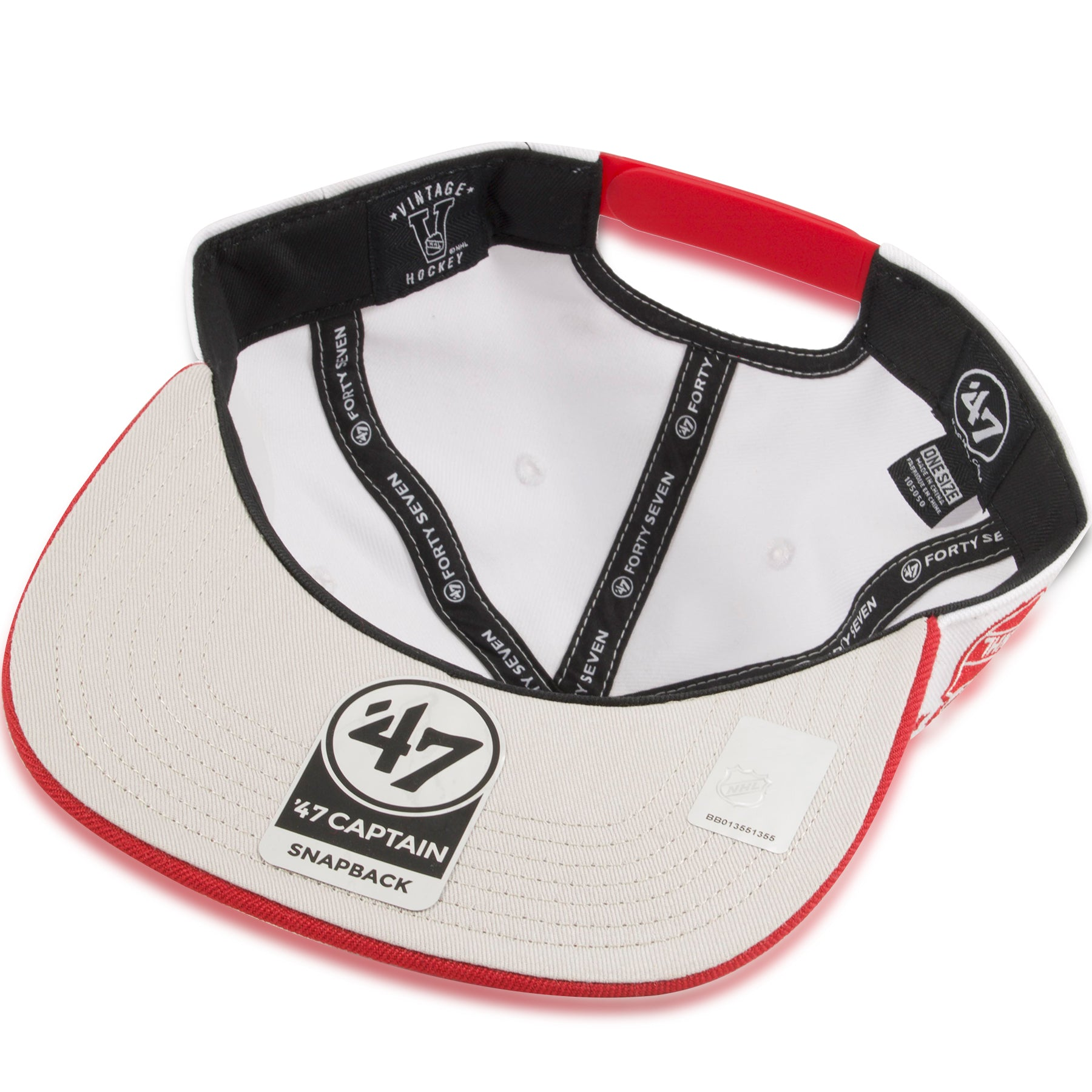 425dd32b Detroit Red Wings Two Tone White / Red Sure Shot '47 Brand Snapback Hat