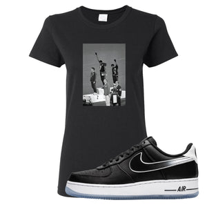 Colin Kaepernick X Air Force 1 Low Kaepernick Fist Black Sneaker Hook Up Women's T-Shirt