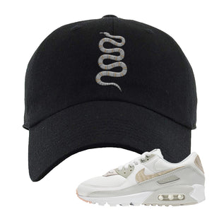 Air Max 90 Zebra Snakeskin Dad Hat | Coiled Snake, Black
