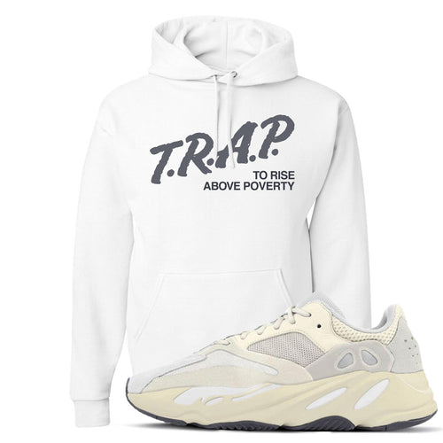 Yeezy Boost 700 Analog Sneaker Match Trap Rise Above White Hoodie