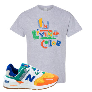 997S Multicolor Sneaker Sports Gray T Shirt | Tees to match New Balance 997S Multicolor Shoes | In Living Color