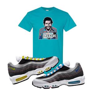 Air Max 95 QS Greedy T Shirt | Tropical Blue, Escobar Illustration