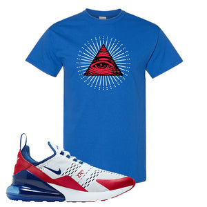 Air Max 270 USA T Shirt | Royal Blue, All Seeing Eye