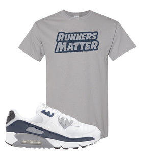 Air Max 90 White / Particle Grey / Obsidian T Shirt | Gravel, Runners Matter