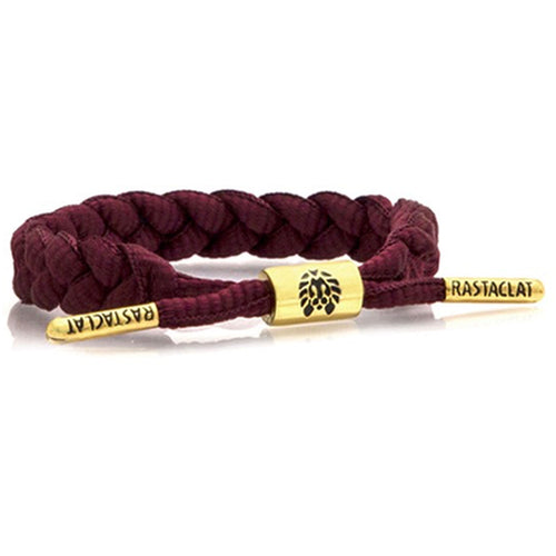 Rastaclat Burgundy Braided Men's Shoelace Bracelet