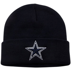 Dallas Cowboys Kid's Sized Navy Blue Basic Knit Beanie