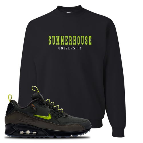 The Basement X Nike Air Max 90 Manchester Summerhouse University Black Sneaker Matching Crewneck Sweatshirt