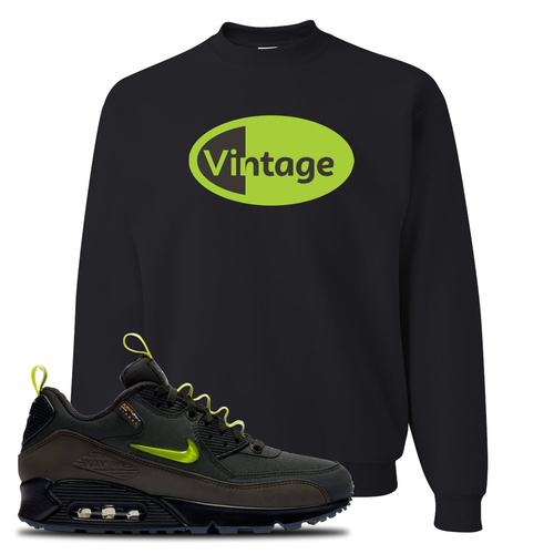 The Basement X Nike Air Max 90 Manchester Vintage Oval Black Sneaker Matching Crewneck Sweatshirt